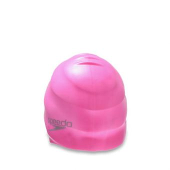 Speedo CFA S120 Plain Moulded Silicone Unisex Swimming Cap - Pink