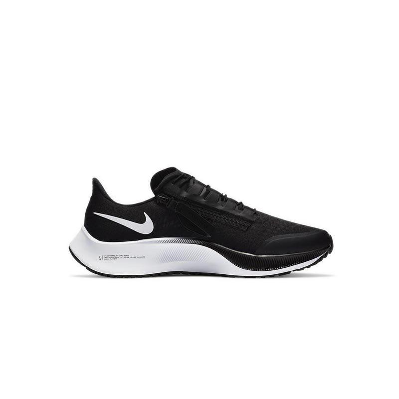 Nike Air Zoom Pegasus 37 FlyEase Men's Running Shoes - Black/Smoke Grey/White