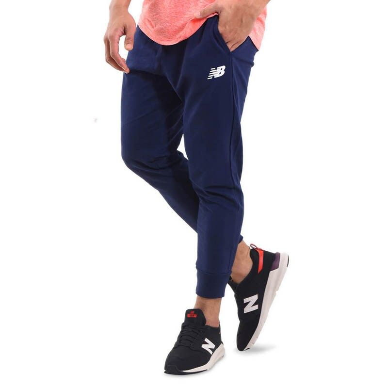 New Balance Essential Stacked Logo Men's Jogger Pants - Pigment
