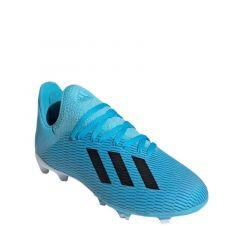 Adidas X 19.3 Firm Ground Junior Boys Soccer Shoes - Cyan