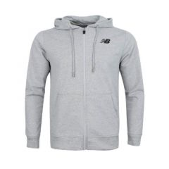 New Balance Essentials Stacked Logo Men's Hoodie - Grey