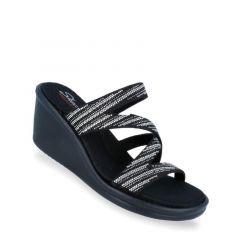 Skechers Rumblers - Mega Flash Women's Sandal - Black Silver
